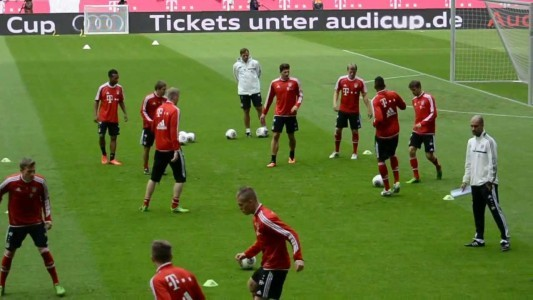 pep-guardiolas-2nd-training-session-at-bayern-munich