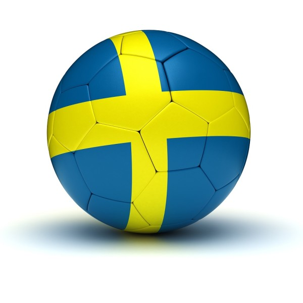 Swedish Football (isolated with clipping path)