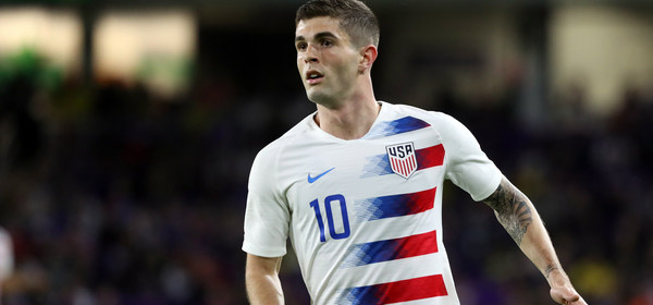 Mar 21, 2019; Orlando, FL, USA; United States forward Christian Pulisic (10) defends against the Ecuador during second half of an international friendly soccer match at Orlando City Stadium. Mandatory Credit: Kim Klement-USA TODAY Sports