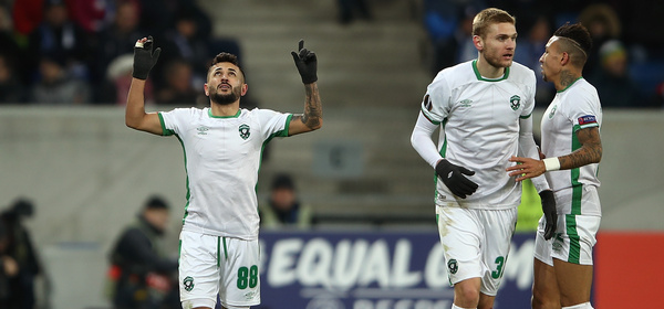 SINSHEIM, GERMANY - DECEMBER 07:  Wanderson of PFC Ludogorets Razgrad celebrates after scoring his team's first goal of the game during the UEFA Europa League group C match between 1899 Hoffenheim and PFC Ludogorets Razgrad at Wirsol Rhein-Neckar-Arena on December 7, 2017 in Sinsheim, Germany.  (Photo by Alex Grimm/Bongarts/Getty Images)