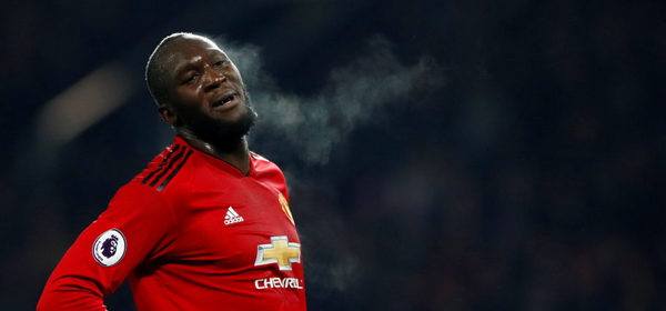 "190129 Fotboll, Premier League Soccer Football - Premier League - Manchester United v Burnley - Old Trafford, Manchester, Britain - January 29, 2019  Manchester United's Romelu Lukaku during the match         Action Images via Reuters/Jason Cairnduff  EDITORIAL USE ONLY. No use with unauthorized audio, video, data, fixture lists, club/league logos or ""live"" services. Online in-match use limited to 75 images, no video emulation. No use in betting, games or single club/league/player publications.  Please contact your account representative for further details.  © BildbyrŒn - COP 7 - SWEDEN ONLY"