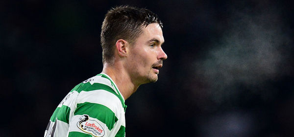 GLASGOW, SCOTLAND - JANUARY 23: Mikael Lustig of Celtic in action during the Ladbrokes Scottish Premiership match between Celtic and St Mirren at Celtic Park on January 23, 2019 in Glasgow, Scotland. (Photo by Mark Runnacles/Getty Images)