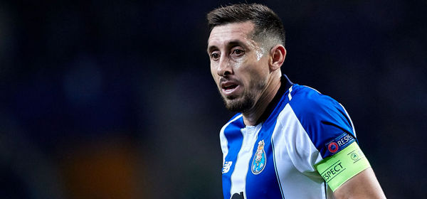 PORTO, PORTUGAL - MARCH 06: Hector Herrera of FC Porto looks on during the UEFA Champions League Round of 16 Second Leg match between FC Porto and AS Roma at Estadio do Dragao on March 06, 2019 in Porto, Portugal. (Photo by Quality Sport Images/Getty Images)