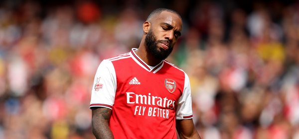 LONDON, ENGLAND - JULY 28: Alexandre Lacazette of Arsenal reacts before going off injured during the Emirates Cup match between Arsenal and Olympique Lyonnais at Emirates Stadium on July 28, 2019 in London, England. (Photo by Marc Atkins/Getty Images)