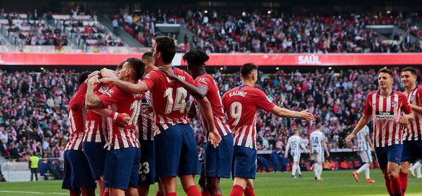 Atletico de Madrid's players celebrate goal during La Liga match between Atletico de Madrid and CD Leganes at Wanda Metropolitano stadium in Madrid, Spain. March 09, 2019. (ALTERPHOTOS/A. Perez Meca) Liga Campionato Spagna 2018/2019 Foto Alterphotos / Insidefoto  ITALY ONLY