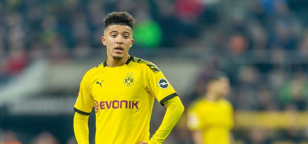MOENCHENGLADBACH, GERMANY - MARCH 07: (BILD ZEITUNG OUT) Jadon Sancho of Borussia Dortmund looks on during the Bundesliga match between Borussia Moenchengladbach and Borussia Dortmund at Borussia-Park on March 7, 2020 in Moenchengladbach, Germany. (Photo by Mario Hommes/DeFodi Images via Getty Images)