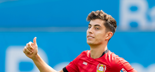 LEVERKUSEN, GERMANY - AUGUST 04: Kai Havertz of Bayer 04 Leverkusen looks on prior to the pre-season friendly match between Bayer 04 Leverkusen and FC Valencia at BayArena on August 4, 2019 in Leverkusen, Germany. (Photo by TF-Images/Getty Images)