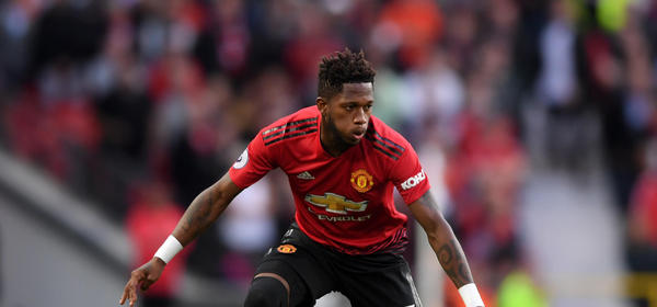 MANCHESTER, ENGLAND - AUGUST 10:  Fred of Manchester United in action during the Premier League match between Manchester United and Leicester City at Old Trafford on August 10, 2018 in Manchester, United Kingdom.  (Photo by Laurence Griffiths/Getty Images)